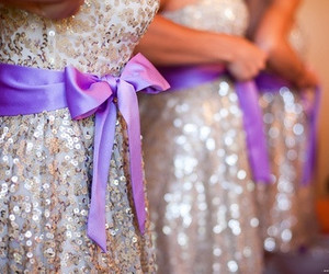 dress, glitter, and bow image