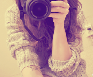 brown, camera, and curls image