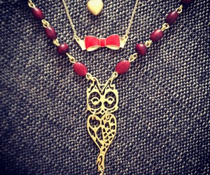 bow, heart, and bow necklace image