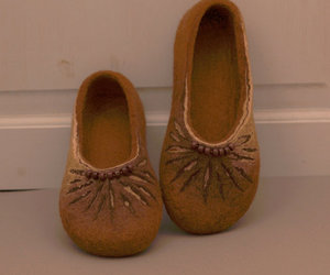 felt, slippers, and wool image