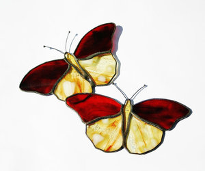 butterflies and glass image