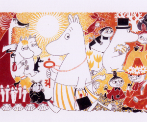card, postcrossing, and moomins image