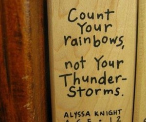quotes, rainbow, and thunderstorm image