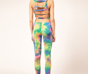 fashion, girl, and tie dye image