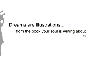 dreams, quotations, and typography image