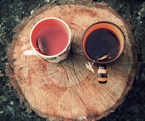 tea, autumn, and cup image