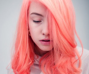 girl, hair, and neon image