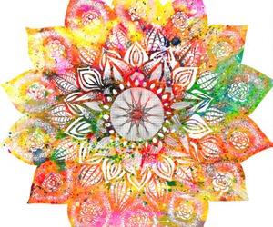 mandala, art, and flower image