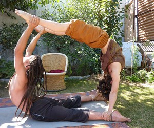 yoga and hippie image