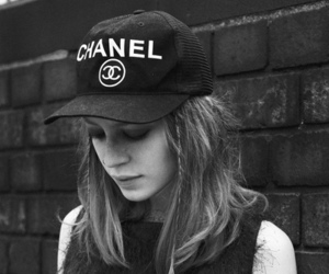 girl, chanel, and black and white image