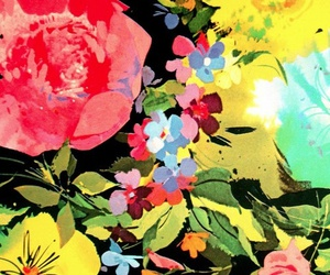 flowers, floral, and print image