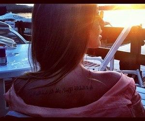 tattoo, girl, and sun image