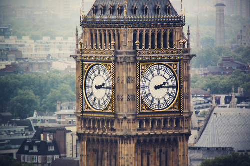 london, Big Ben, and clock image