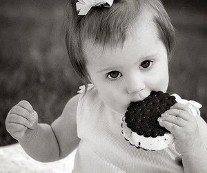 cute, baby, and cookie image