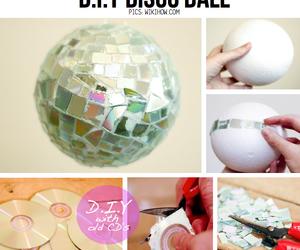 diy, disco, and disco ball image