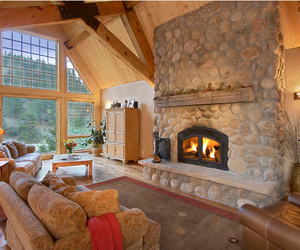 house, luxury, and fireplace image