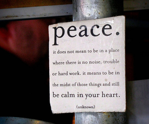 quote, text, and peace image