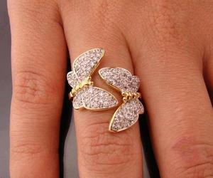ring, butterfly, and jewelry image