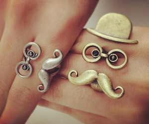rings, mustache, and ring image