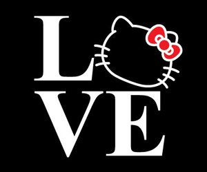 hello kitty and love image
