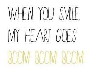 heart, smile, and boom image