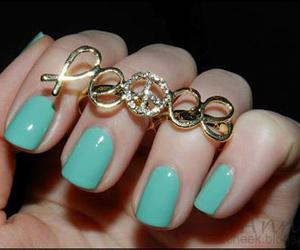 nails, peace, and ring image
