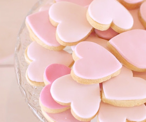 pink, heart, and Cookies image