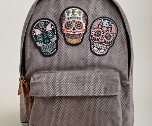 skull, backpack, and bag image