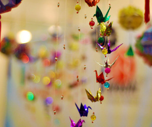 colors, lights, and origami image