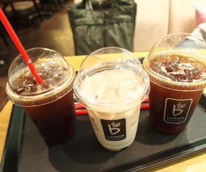 coffee, ice coffee, and vanilla bean image