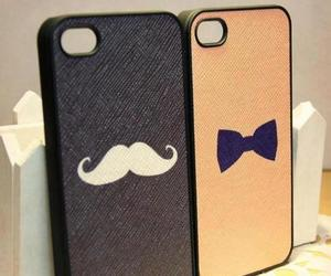 iphone and mustache image