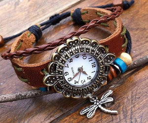 arm, bracelet, and leather image