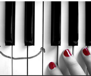 piano, smile, and music image