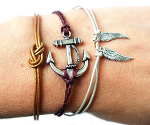 anchor, gold, and handmade image