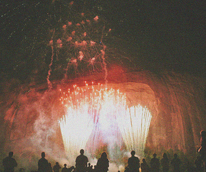 fireworks, photography, and vintage image