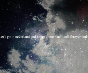 neverland, quote, and stars image
