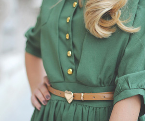 fashion, dress, and green image