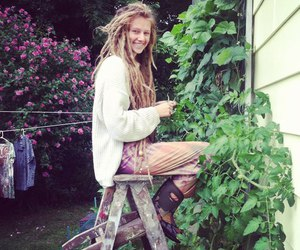 girl, dreads, and nature image