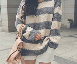 fashion, stripes, and sweater image