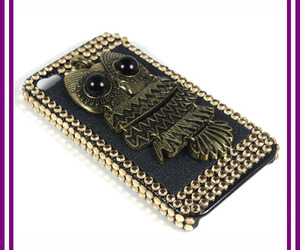 black, owl, and case image