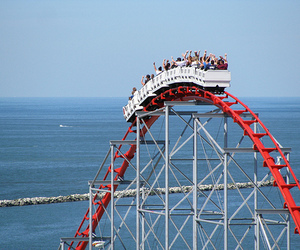Roller Coaster, rollercoaster, and cool image