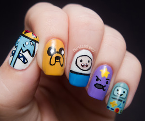 nails, adventure time, and nail art image