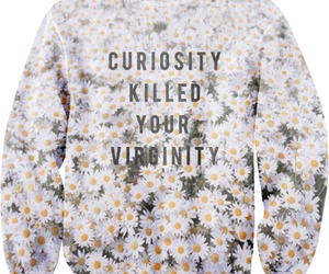 sweater, fashion, and flowers image