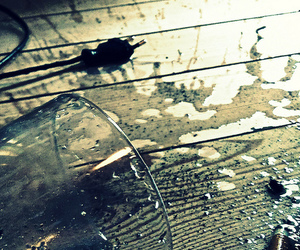 chaos, cigarette, and glass image