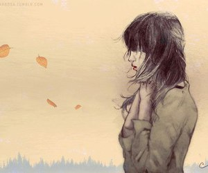 girl, autumn, and art image