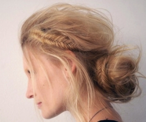 blonde, braid, and cut image