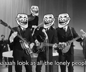 beatles, troll, and forever alone image