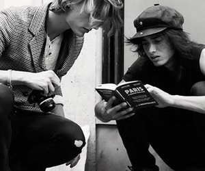 b&w, black and white, and book image