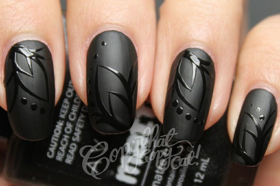 Black Nail Art Tumblr Black Nail Polish Designs Tumblr