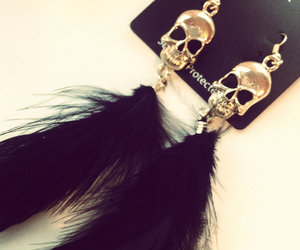 skull, accessories, and black image